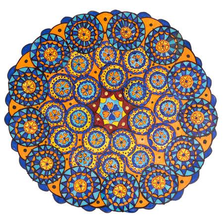 Colorful oriental decorative hand drawn mandala pattern Stock Photo