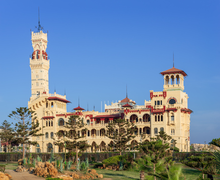 Day shot of the Royal palace at Montaza public park, Alexandria, Egypt Editorial