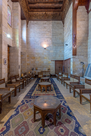 Lounge at the mausoleum of Sultan al Ghouri, al Azhar district, Cairo, Egypt