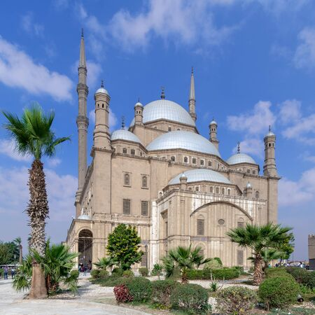 Cairo, Egypt - January 10 2016: The great Mosque of Muhammad Ali Pasha (Alabaster Mosque), situated in the Citadel of Cairo, commissioned by Muhammad Ali Pasha, one of the landmarks of Cairo Stock Photo - 133071470