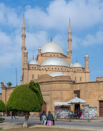 Cairo, Egypt - January 10 2016: The great Mosque of Muhammad Ali Pasha (Alabaster Mosque), situated in the Citadel of Cairo, commissioned by Muhammad Ali Pasha, one of the landmarks of Cairo Stock Photo - 133071472