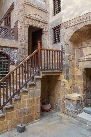 Facade of ottoman historic Beit El Set Waseela building (Waseela Hanem House), located near to Al-Azhar Mosque in Darb Al-Ahmar district, Old Cairo, Egypt Stock Photo - 133071564