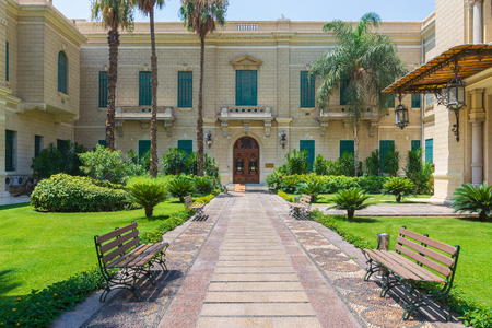 Facade of the royal palace of Abdeen, currently used as a presidency workplace, located in Eastern Downtown Cairo, Egypt Stock Photo - 127467319