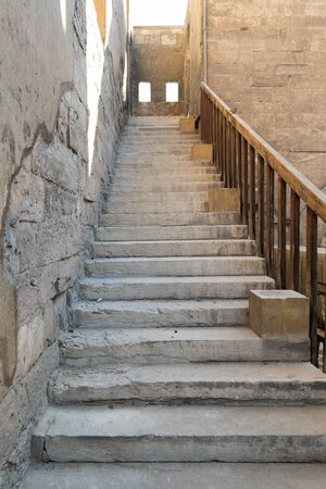 Staircase leading to the minaret Ibn Tulun mosque, Sayyida Zaynab district, Medieval Cairo, Egypt Stock Photo - 131870900