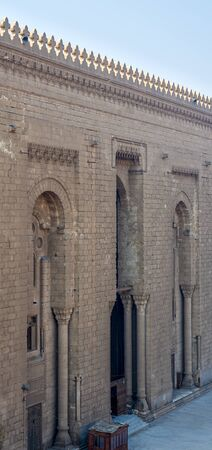 Side facade of Al Rifai historical mosque, Cairo, Egypt. View from from Al Rifai Street Stock Photo - 131870251