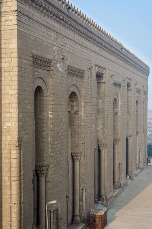 Side facade of Al Rifai historical mosque, Cairo, Egypt. View from from Al Rifai Street Stock Photo - 131871542