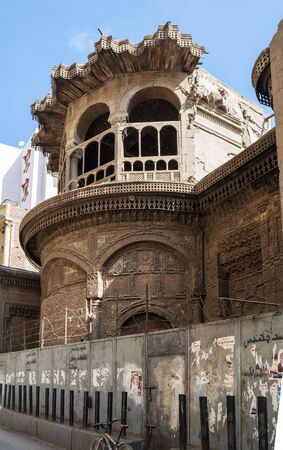 Cairo, Egypt- January 16 2016: Ruined abandoned Sabil and Kuttab Ruqayya Dudu historic building, located at Darb Al Ahmar district, Old Cairo Stock Photo - 133073942