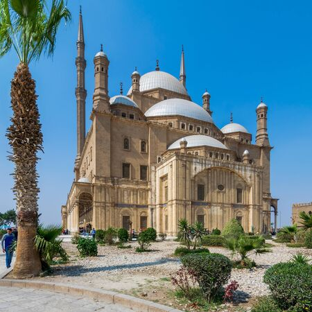 Cairo, Egypt- March 4 2017: The great Mosque of Muhammad Ali Pasha - Alabaster Mosque - situated in the Citadel of Cairo, commissioned by Muhammad Ali Pasha, one of the main landmarks of Cairo Stock Photo - 133075549