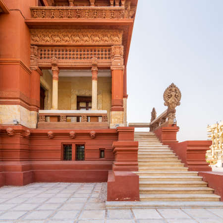 A historic mansion inspired by the Cambodian Hindu temple of Angkor Wat