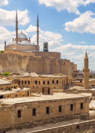 The great Mosque of Muhammad Ali Pasha - Alabaster Mosque - situated in the Citadel of Cairo in Egypt, commissioned by Muhammad Ali Pasha, one of the landmarks and tourist attractions of Cairo
