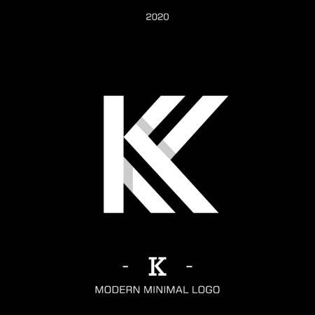 Letter type K. Elegant identity design. Beautiful logotype for luxury branding. vector illustration Logo