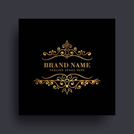 Luxury vip logo concept design. Great for your brand with floral decoration. Vintage monogram logo elegant with floral ornaments style. vector