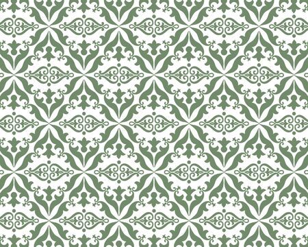 Wallpaper in the style of baroque. Ornate damask flower ornament. Ilustrace