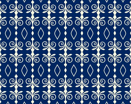 Damask pattern design. Elegant line texture for textile, wrapper and other printing. vector