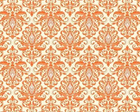 Vintage wallpaper in the Baroque style. Beautiful ornament for fabric, Ornate damask flower ornament. vector Stock Vector - 150279112