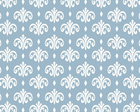 Wallpaper in the style of baroque. Ornate damask flower ornament. vector