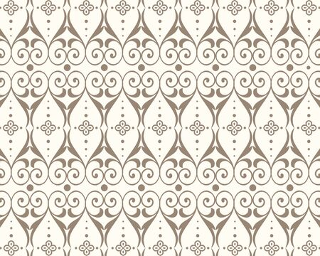 Intersecting curved elegant stylized leaves and scrolls forming abstract floral ornament. vector
