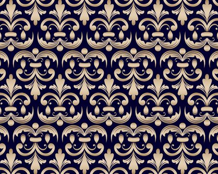 Beautiful wallpaper in the style of baroque. Ornate damask flower ornament. vector Ilustrace