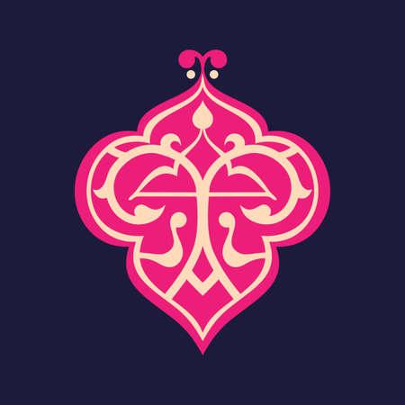 Arabic floral border. Traditional islamic design. Beautiful decoration element.