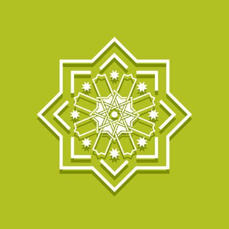 Islamic pattern. Arabic floral frame. Elegant bordir Mosque decoration element. Vector Vettoriali