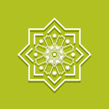 Islamic pattern. Arabic floral frame. Elegant bordir Mosque decoration element. Vector Vetores