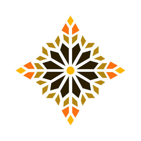Beautiful mandala shape. Vector geometric lattice mandala style. Vector Illusztráció