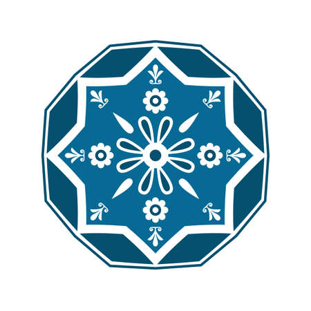 Vector ethnic oriental circle ornament. Traditional islamic design. Mosque decoration element. Vector Illustration