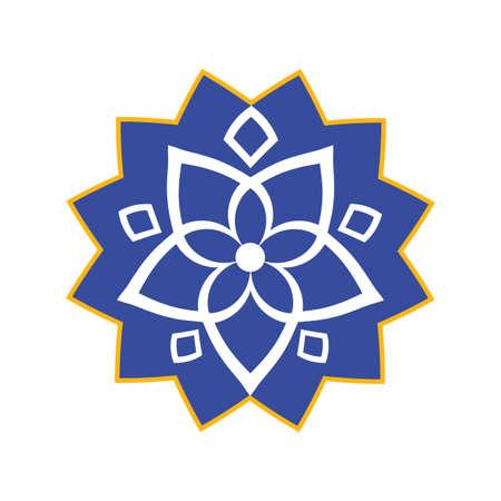 Islamic style. Arabic geometric pattern. Vector ethnic oriental circle ornament. Vector Illustration Illusztráció