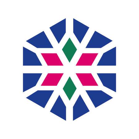 Islamic ornament vector. Circular ornamental arabic symbols. Mosque decoration element. vector template Illusztráció