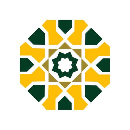 Vector ethnic oriental circle ornament. Traditional islamic design. Mosque decoration element.