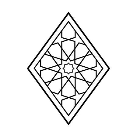 Traditional geometric pattern design. Arabic ornamnet style.