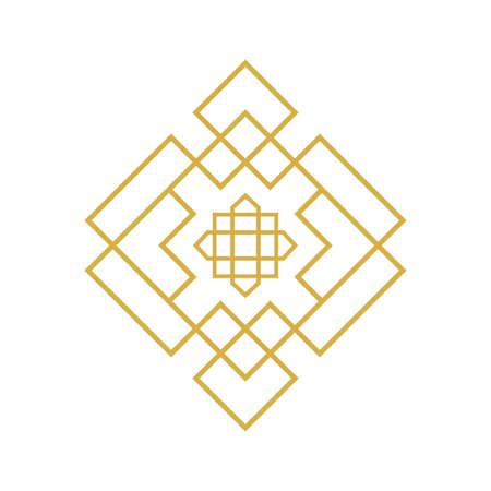 Elegant geometric style. Traditional islamic design. Mosque decoration element. It can be used as wall decoration. Illusztráció