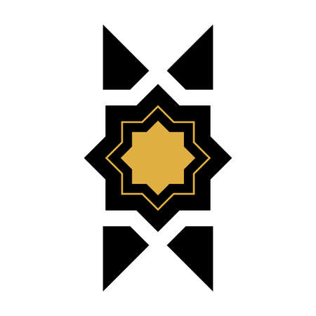 Arabic geometric element. Beautiful easy ornament, indian ornament, persian motif. Traditional islamic design. Mosque decoration element. vector