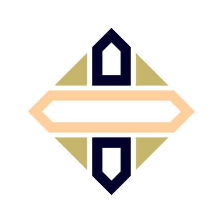 Arabic geometric element. Beautiful easy ornament, indian ornament, persian motif. Traditional islamic design. Mosque decoration element. vector illustration