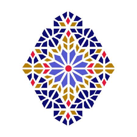 Beautiful mandala shape. Vector geometric lattice mandala style.