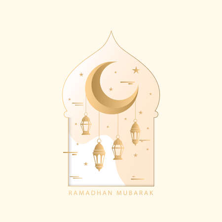 Beautiful ramadan event flat style. vector illustration