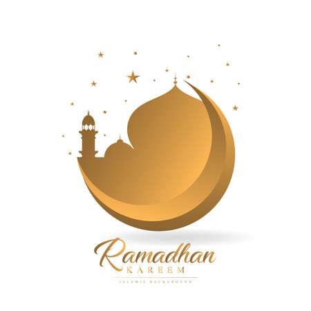 Ramadhan kareem theme illustration 2020 graphic design template. vector Illusztráció
