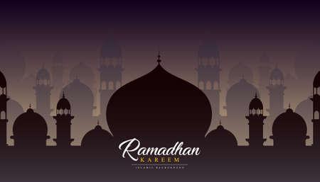 Islamic background design for ramadan kareem. vector illustration