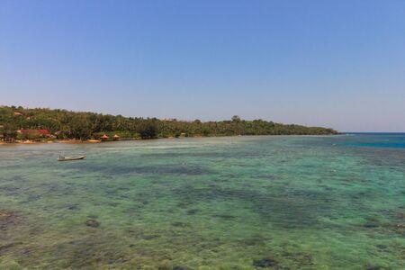 The Beautiful pristine beaches of Karimunjawa, Java, Indonesia 免版税图像