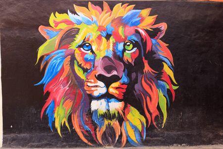September 2018 Street Art in Kampung Warna Warni Jodipan Malang, Indonesia