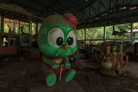 Creepy abandoned amusement park in Yangon, formerly known as Rangoon, Myanmar