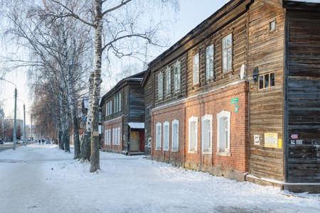 historic district: Old houses of the historic district Polukamushki.
