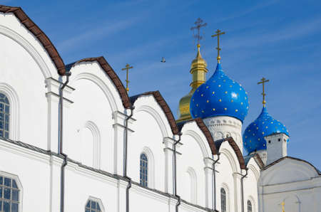 architectural heritage of the world: Annunciation Cathedral. Historic and Architectural Complex of the Kazan Kremlin. UNESCO World Heritage Site. Russia, Republic of Tatarstan, city of Kazan.