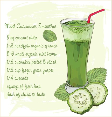 Mint and cucumber smoothie