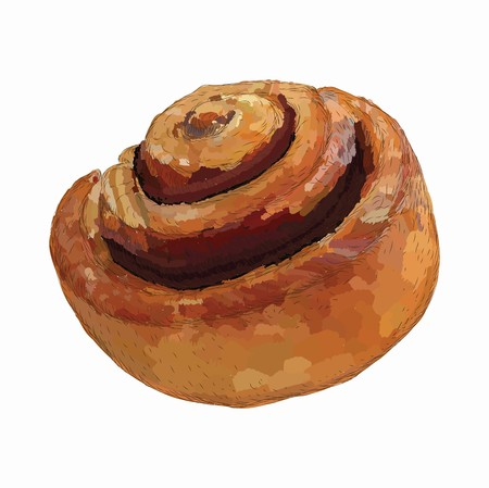 vector baking roll