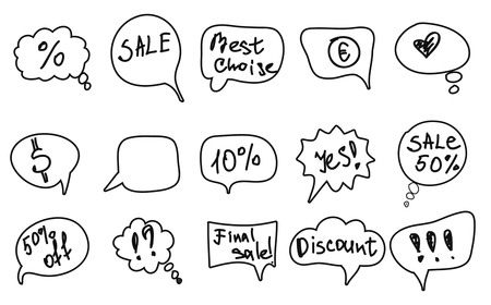 vector set of speech bubbles with text