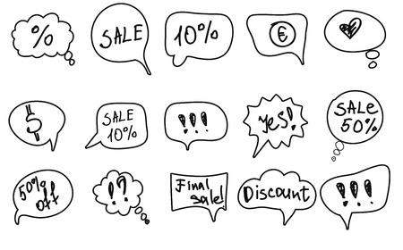 Speech bubbles with text. Иллюстрация