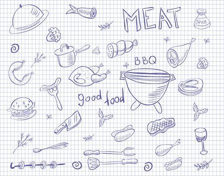 Meat doodle set