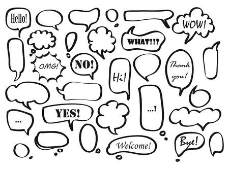 Big set of Speech bubble doodles Иллюстрация