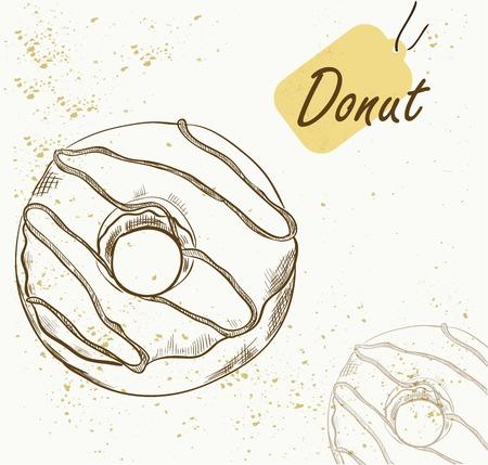 Vector illustration of tasty donuts.
